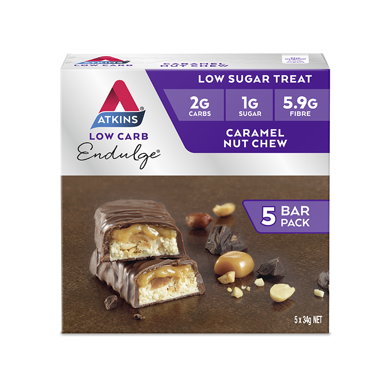 Atkins Endulge Bars - Caramel Nut Chew (5 x 34g) image