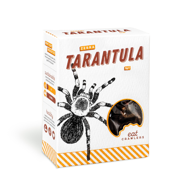 Eat Crawlers: Natural Zebra Tarantula (5g)