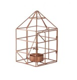 General Eclectic Wire House Tealight Holder (Copper)
