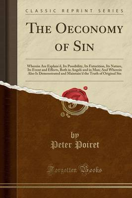 The Oeconomy of Sin by Peter Poiret