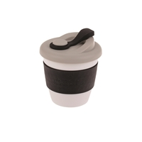 Oasis Plastic Coffee Cup - Black (227ml)