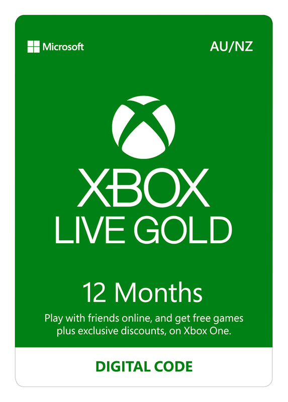 Xbox Live Gold - 12 Month Subscription (Digital Code) for Xbox One