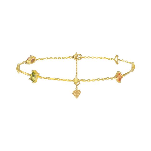 Wanderlust + Co: Aurora Gold Gem Bracelet