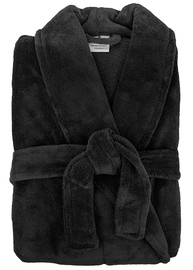 Bambury: Retreat Microplush Robe - Black M/L image