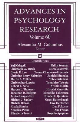 Advances in Psychology Research: v. 60 image