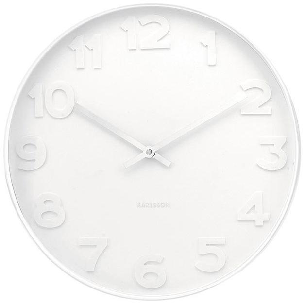 Karlsson Wall Clock - Mr. White: White Case (Small)