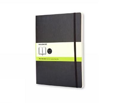 Moleskine Plain Notebook (Extra Large, Soft, Black)