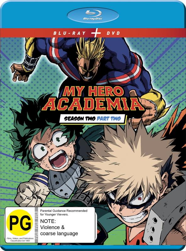 My Hero Academia Season 2 Part 2 on DVD, Blu-ray