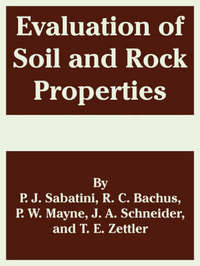 Evaluation of Soil and Rock Properties by P. J. Sabatini image