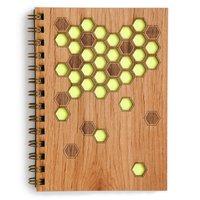 Cardtorial Wooden Journal - Honeycomb