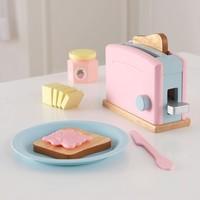 KidKraft - Wooden Pastel Toaster Set