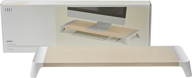Pout EYES 5 Wooden Monitor Stand White