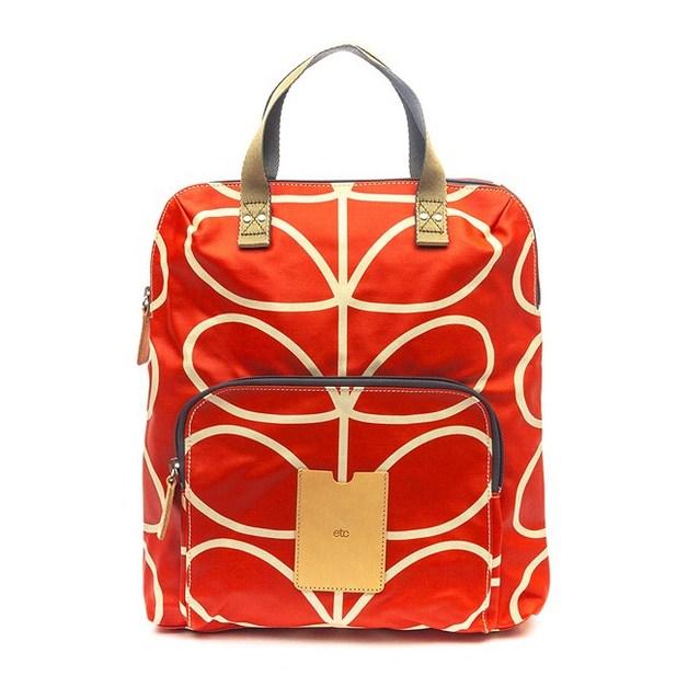 Description. Orla Kiely Linear Stem Backpack Tote ... 142ac5a2f1bb5