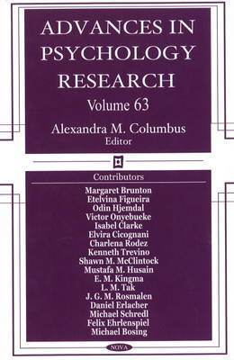 Advances in Psychology Research: Volume 63
