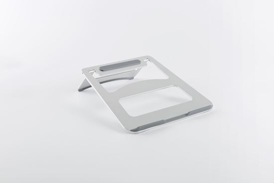 "BRATECK: Folding Ultra-Slim Aluminium Laptop Stand. Fitslaptops & tablets up to 15"".Non-skid silicone pads"