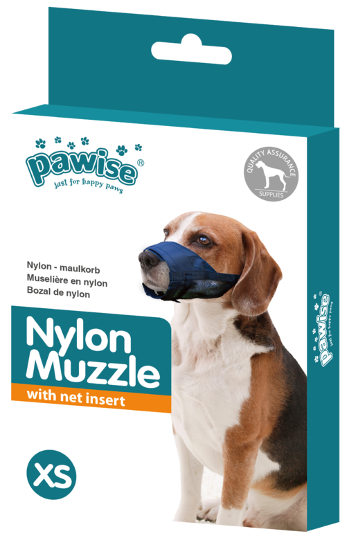 Pawise: Muzzle with Net Insert - Adjustable Size 1