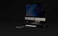 Pout EYES 8 3-in-1 Monitor Stand Hub with Fast Wireless Charging Pad Black