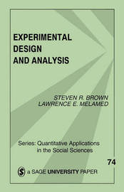 Experimental Design and Analysis by Steven R Brown image