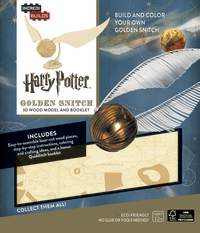 IncrediBuilds: Harry Potter 3D Wood Model and Booklet - Golden Snitch