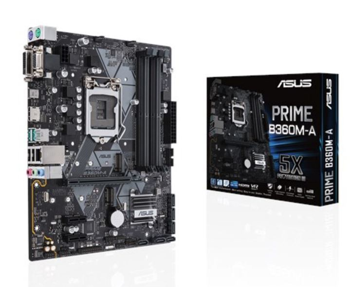 Asus Prime B360M-A Intel B360 M-Atx Coffee Lake Socket 1151 Motherboard image