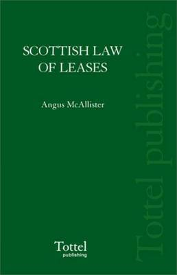 Scottish Law of Leases by Angus McAllister image