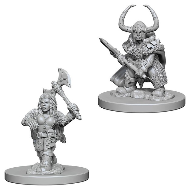 D&D Nolzur's Marvelous: Unpainted Miniatures - Dwarf Female Barbarian