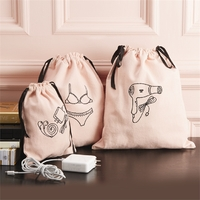 Two's Company Travel Organizing Bags w/Embroidery - Cotton Canvas