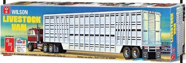 AMT: 1/25 Wilson Livestock Van Trailer - Model Kit