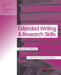 Extended Writing and Research Skills by Joan McCormack