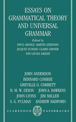 Essays on Grammatical Theory and Universal Grammar image