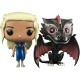 Game of Thrones Drogon & Mhysa Daenerys Metallic Pop!