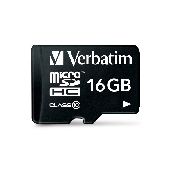 Verbatim Micro SDHC Card with Adaptor - 16GB (Class 10) image