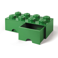 LEGO Storage Brick Drawer 8 (Dark Green)