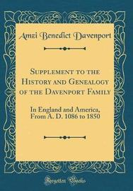 Supplement to the History and Genealogy of the Davenport Family by Amzi Benedict Davenport image