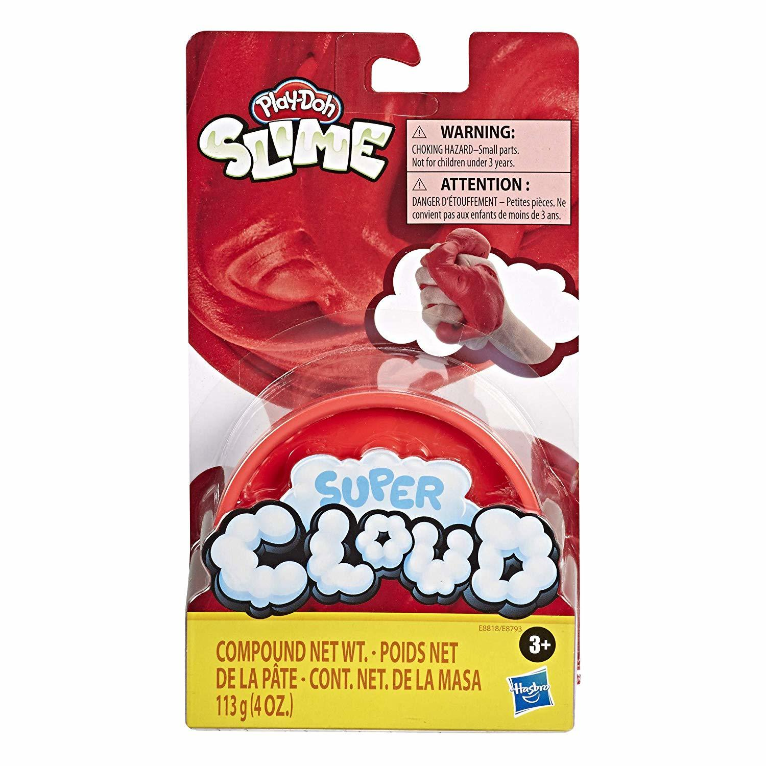 Play-Doh Super Cloud Slime - Red (Single Can) image