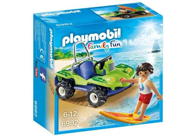 Playmobil: Family Fun - Surfer with Beach Quad