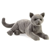 Folkmanis: Purring Cat - Plush Puppet