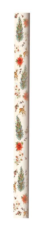 Hallmark: Christmas Wrap 5m Roll - Tree Wreath