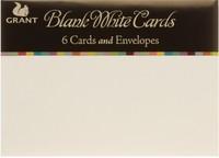 Grants Studio Cards 15 x 10.5cm - White (6pk)