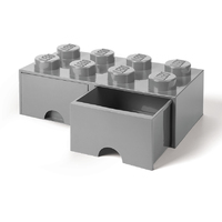 LEGO Storage Brick Drawer 8 (Stone Grey)