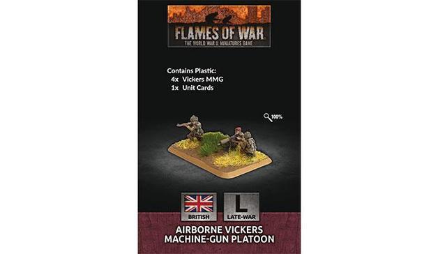 Flames of War: Airborne MMG Platoon (x4 Plastic)
