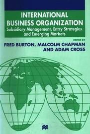 International Business Organization by Malcolm Chapman image