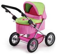 Bayer: Trendy Dolls Pram - Pink/Lime