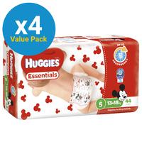 Huggies Essentials Nappies Bulk Value Box - Size 5 Walker (176)