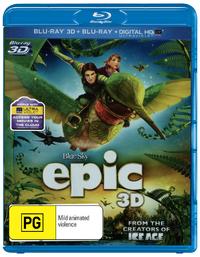 Epic 3D (Blu-ray 3D/Blu-ray 2D/Ultraviolet) DVD
