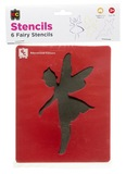 EC Colours - Fairy Stencil Set - Pack of 6