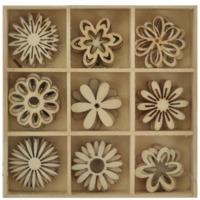 Kaisercraft: DIY - Wooden Shapes Flower - 45 Pc