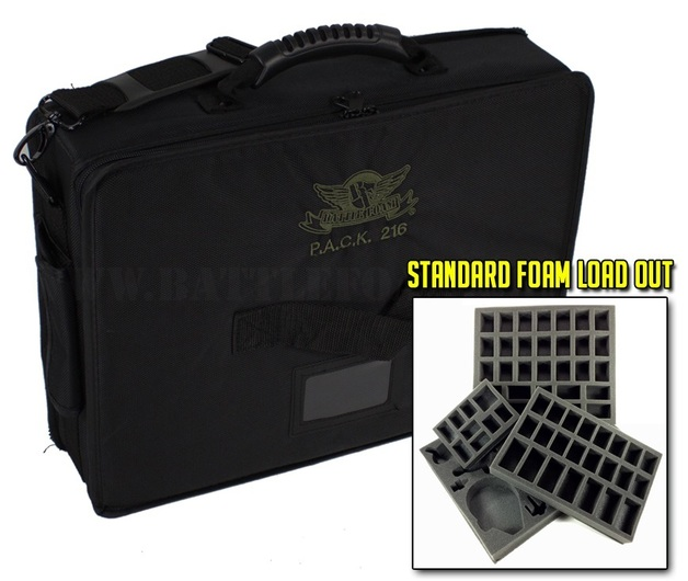 Battle Foam: P.A.C.K. 216 Half Tray - Standard Load Out (Black)