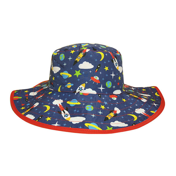Reversible Sunhat - Space (2-5 years) image