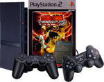 Playstation 2 Console Bundle (Controllers, Memory Card and Tekken 5 Game) for PlayStation 2